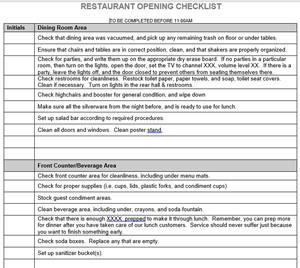 Download library restaurant management for restaurant for Bartender schedule template