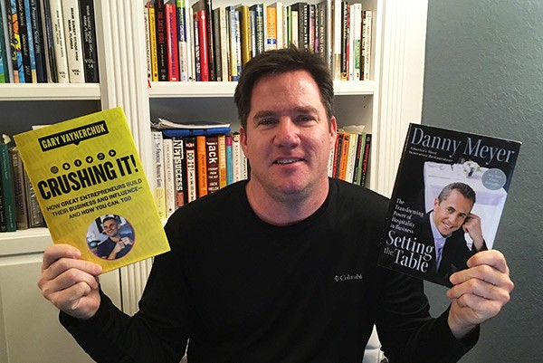 Jaime with books