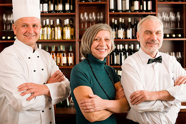 Manager, Chef, bartender