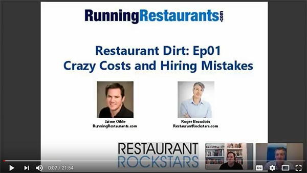 Restaurant Dirt - Episode 1