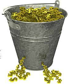 Money Bucket Leaking